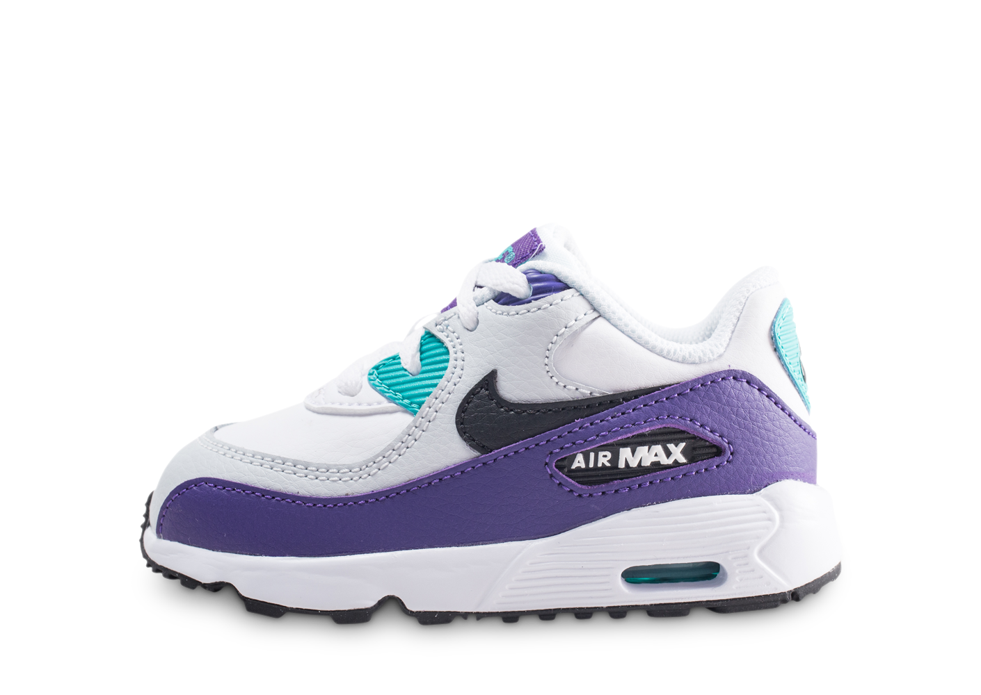 Nike air max 90 leather blanc et violet bébé...