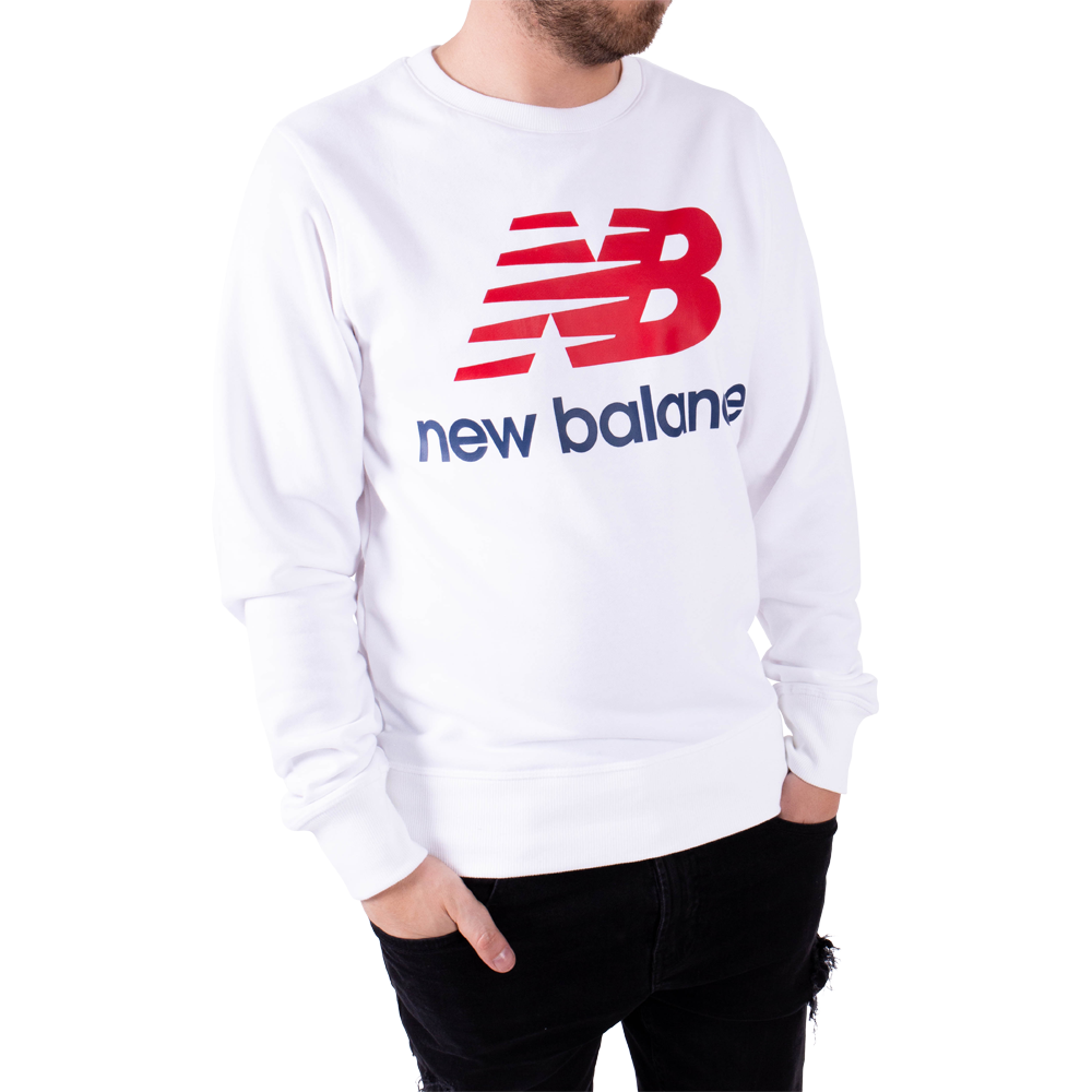 New balance homme sweat essential stacked blanc