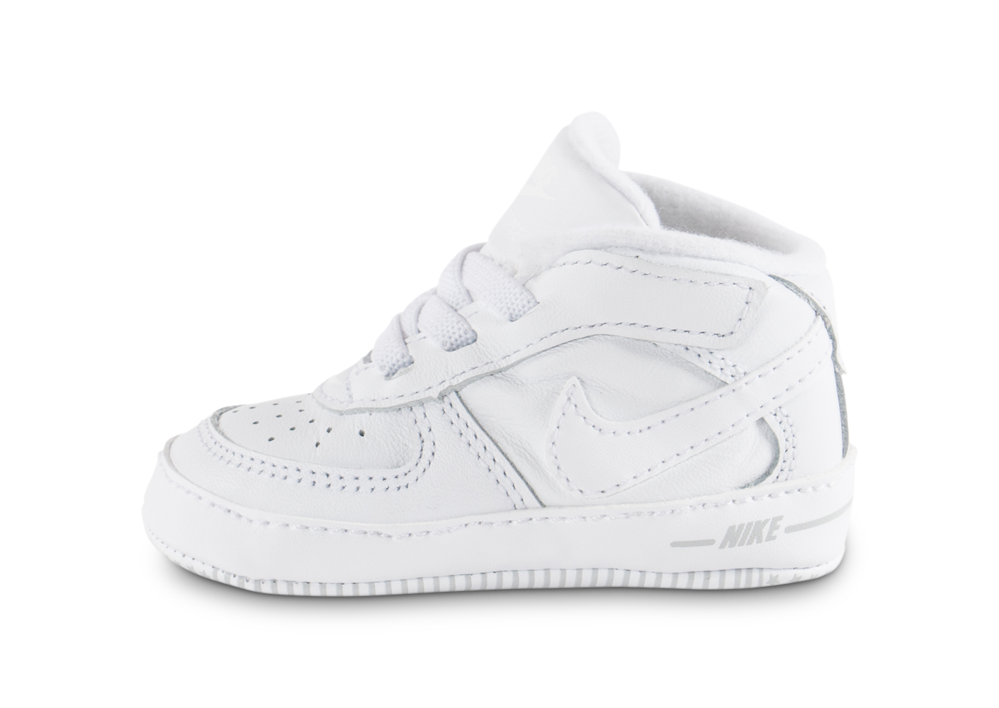 premium selection 41ca1 fcb4a Baskets nike chaussons air force 1 bébé blancs
