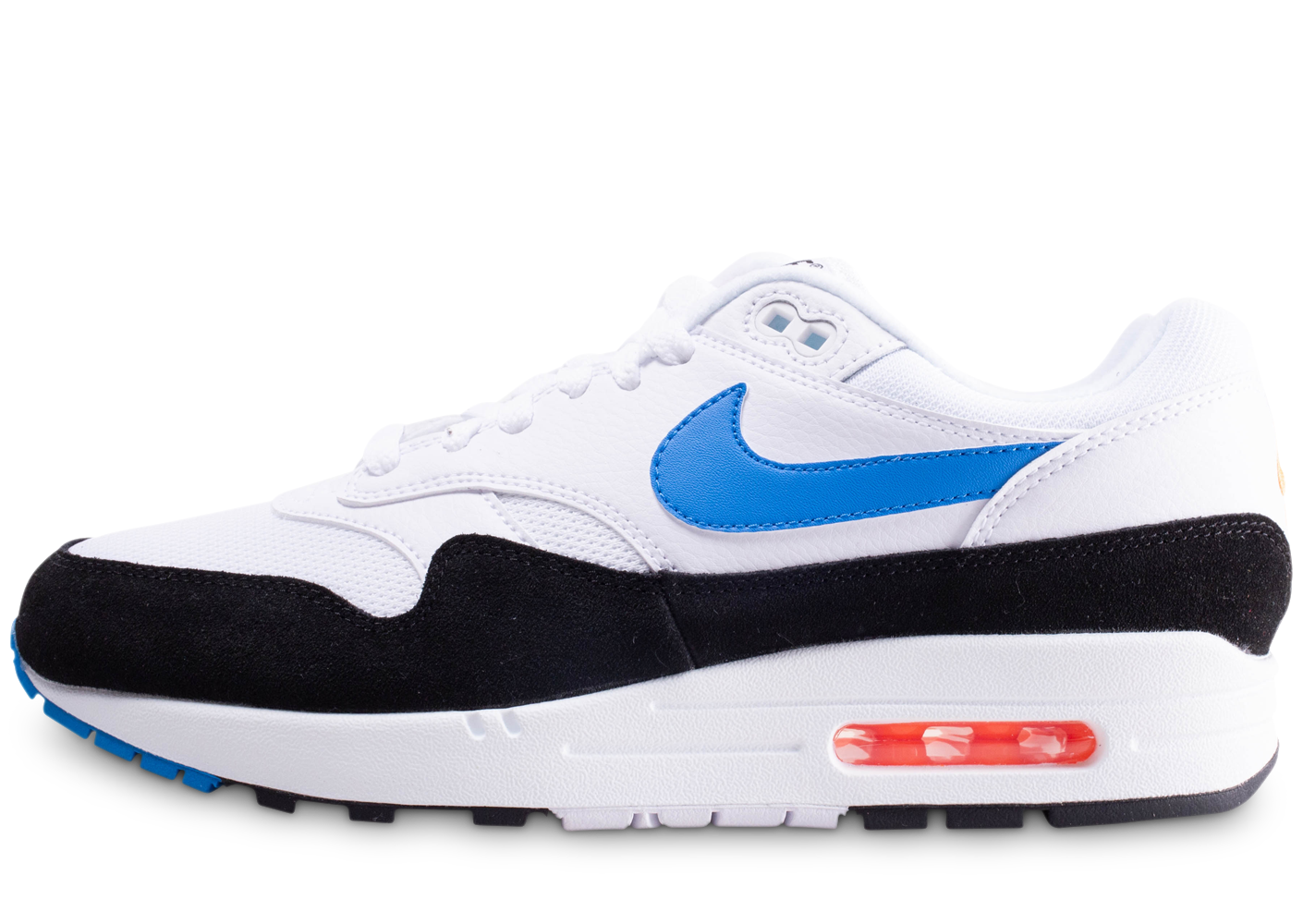 new products f83c1 04301 Nike homme air max 1 blanche et bleue baskets