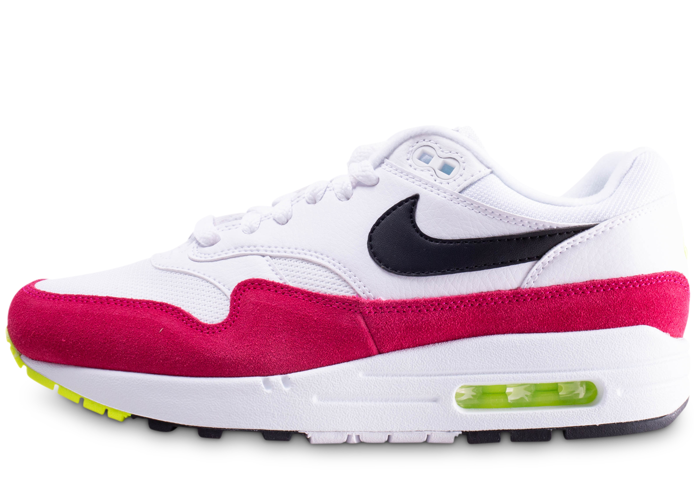 Nike homme air max 1 blanche et rose baskets