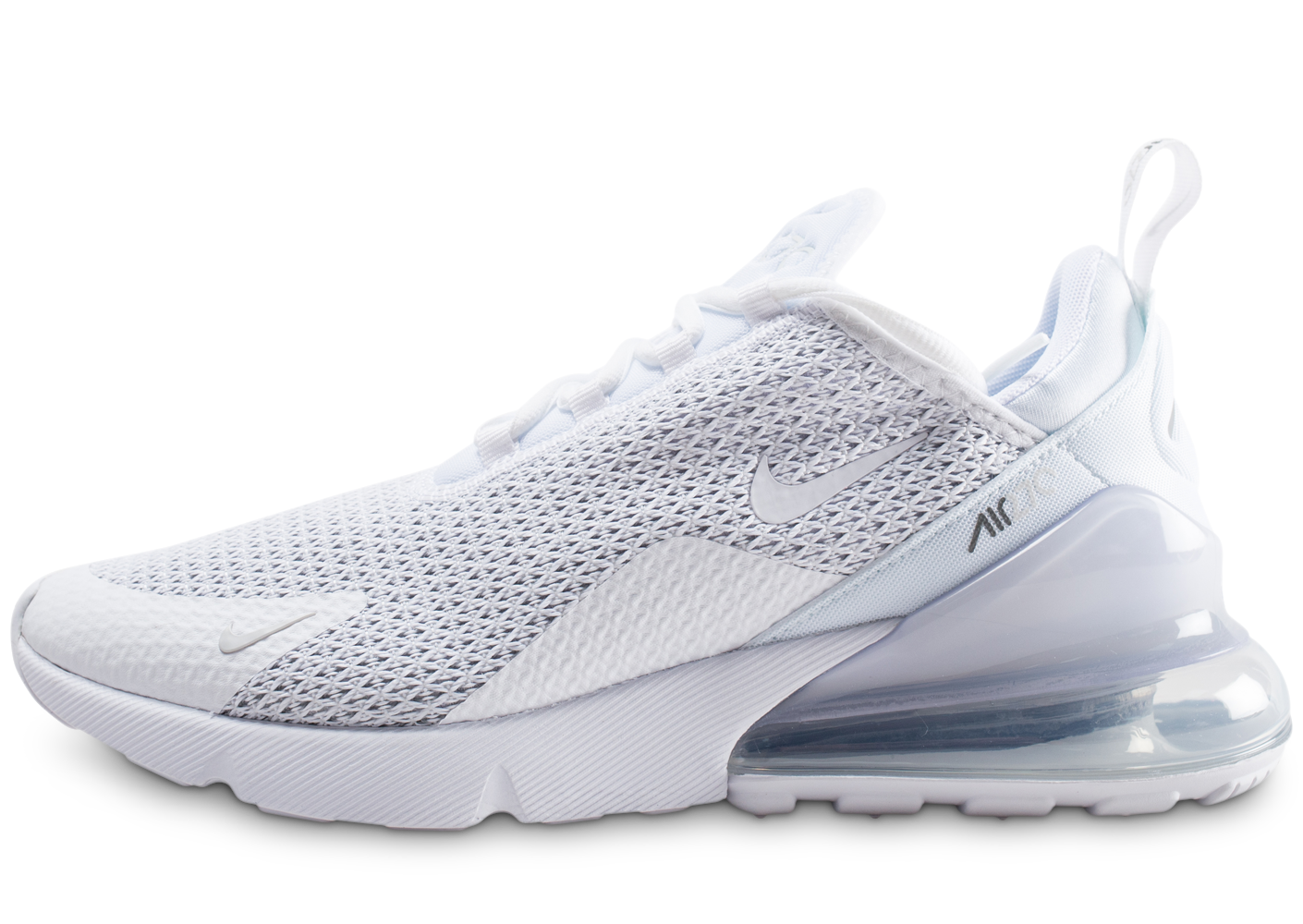 hot sale online b3a54 8a19d Nike homme air max 270 blanc argent baskets