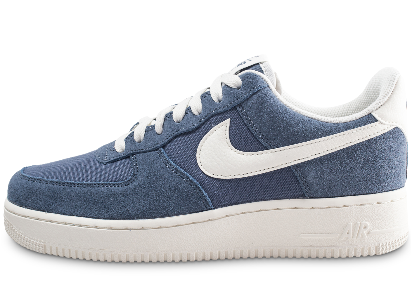 online store bae85 549f5 Nike homme air force 1  07 bleue baskets