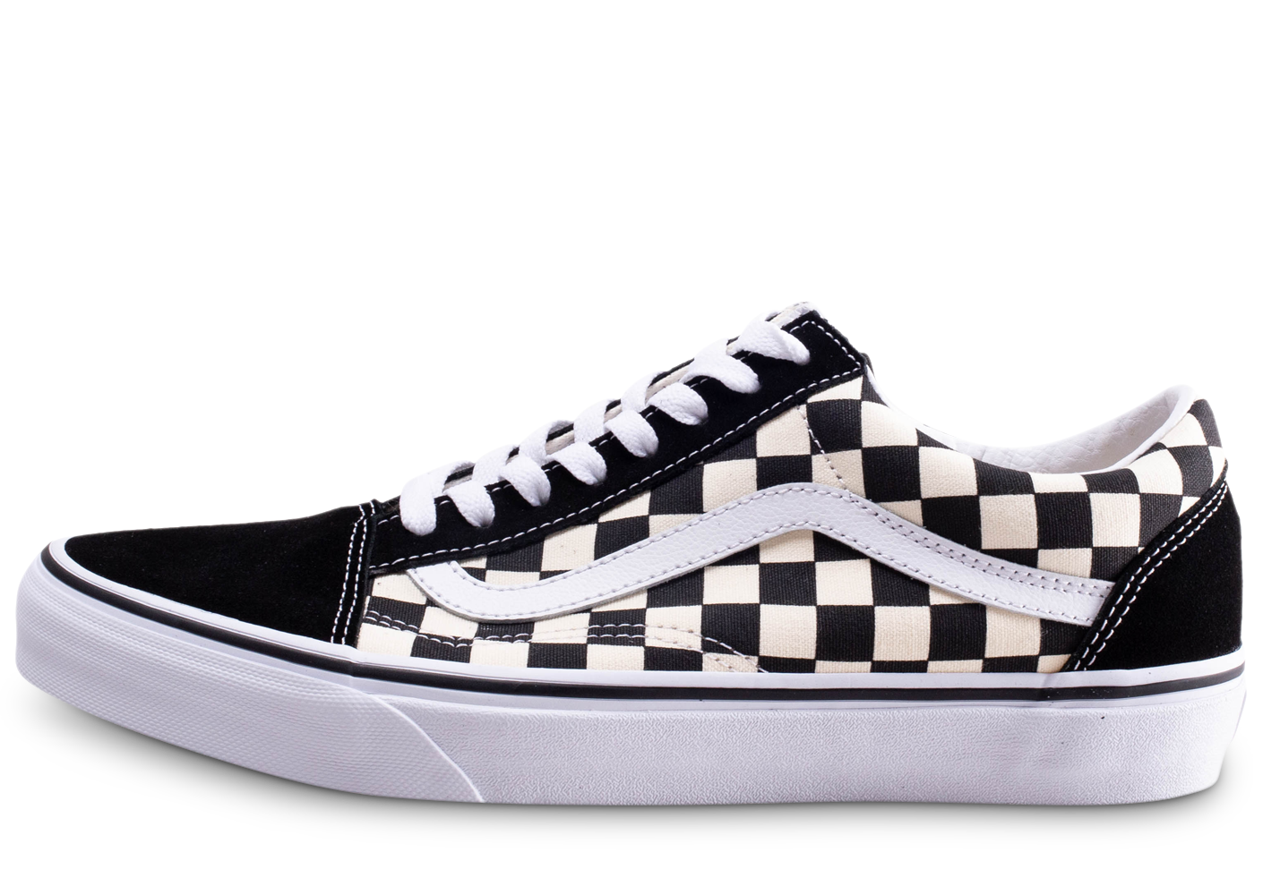 Vans homme old skool primary check baskets