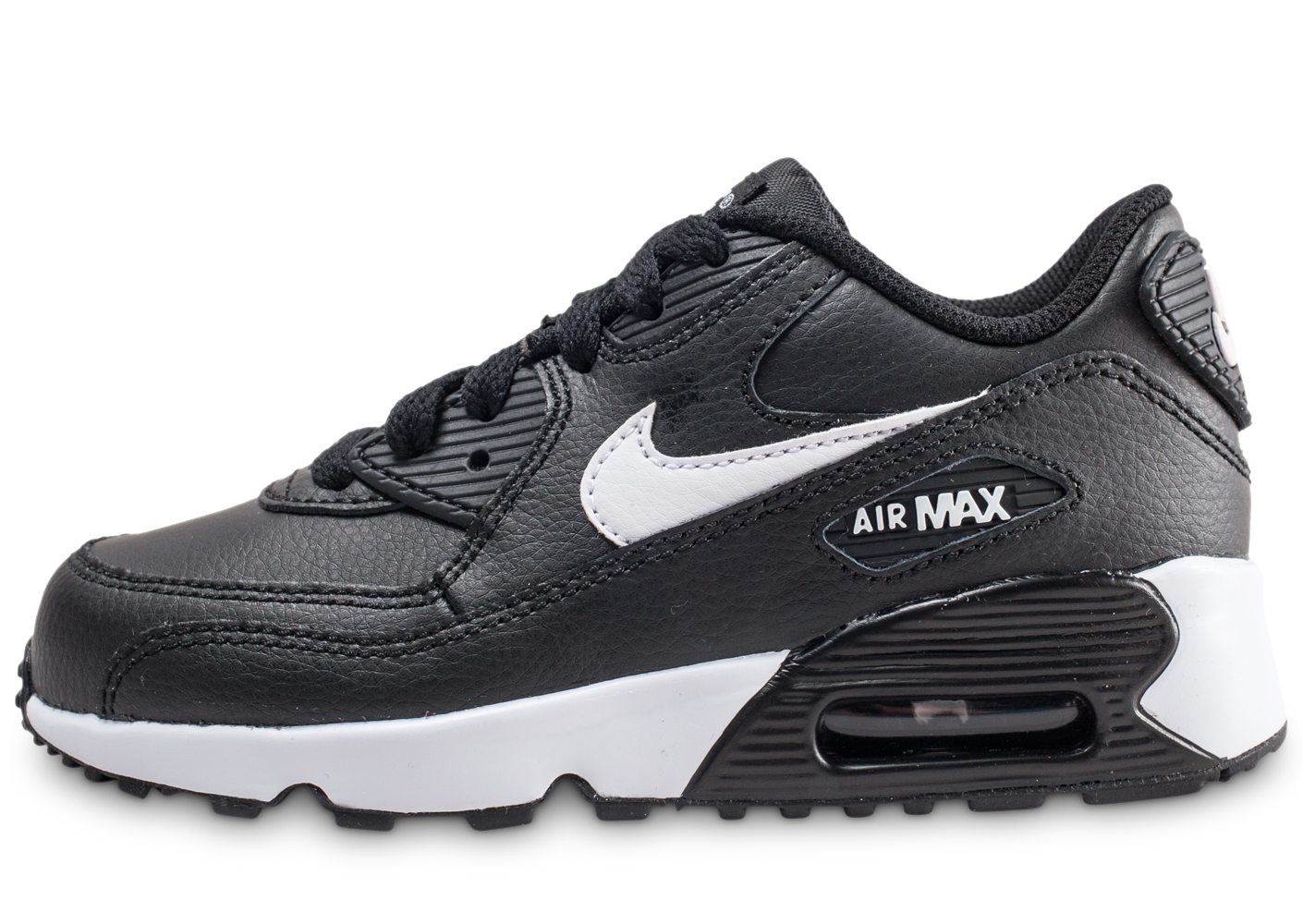 super popular 1d9e7 57f8e Nike air max 90 leather noire et blanche enfant.