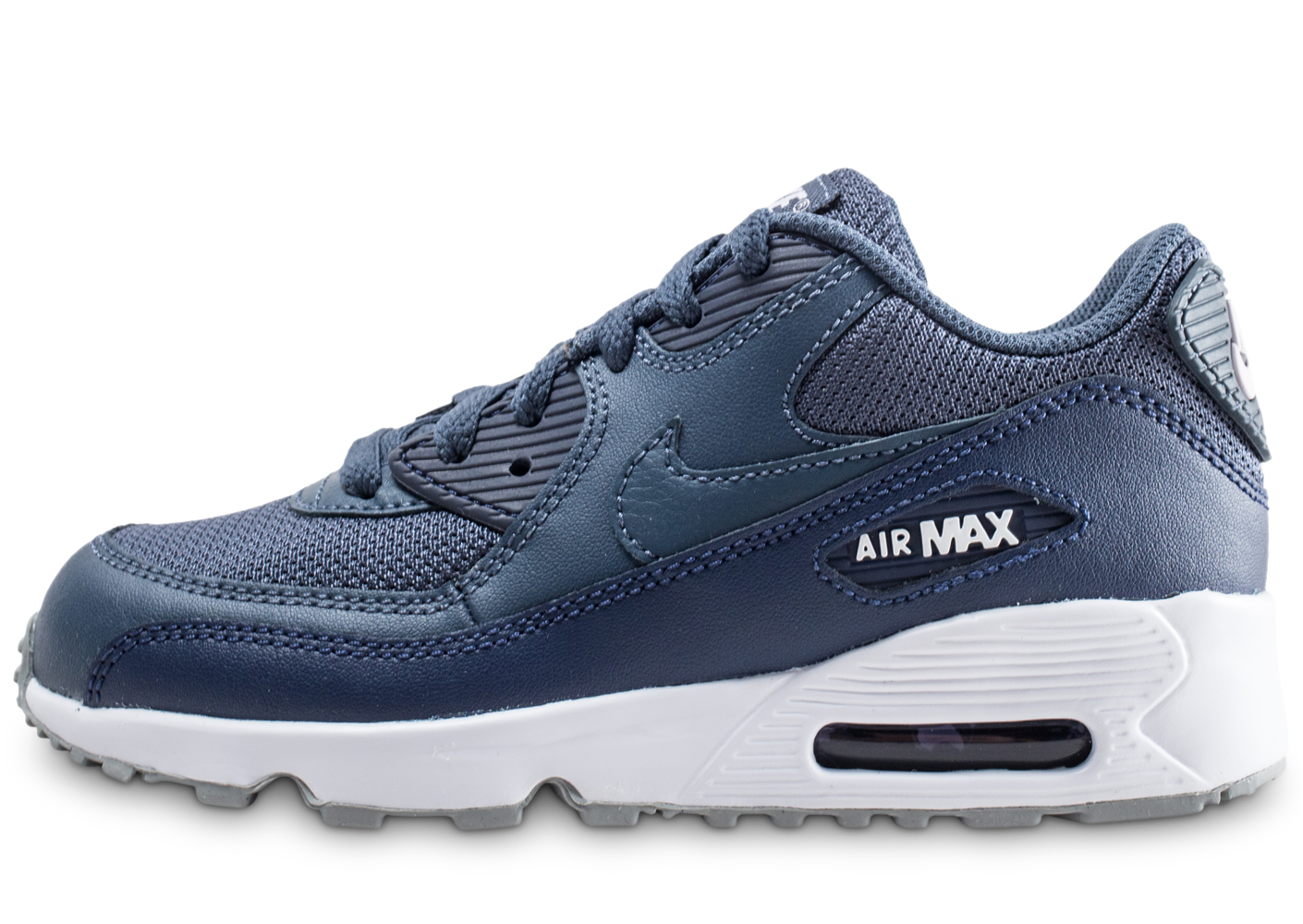 the latest b24d3 dad40 Nike air max 90 mesh bleu foncé enfant baskets