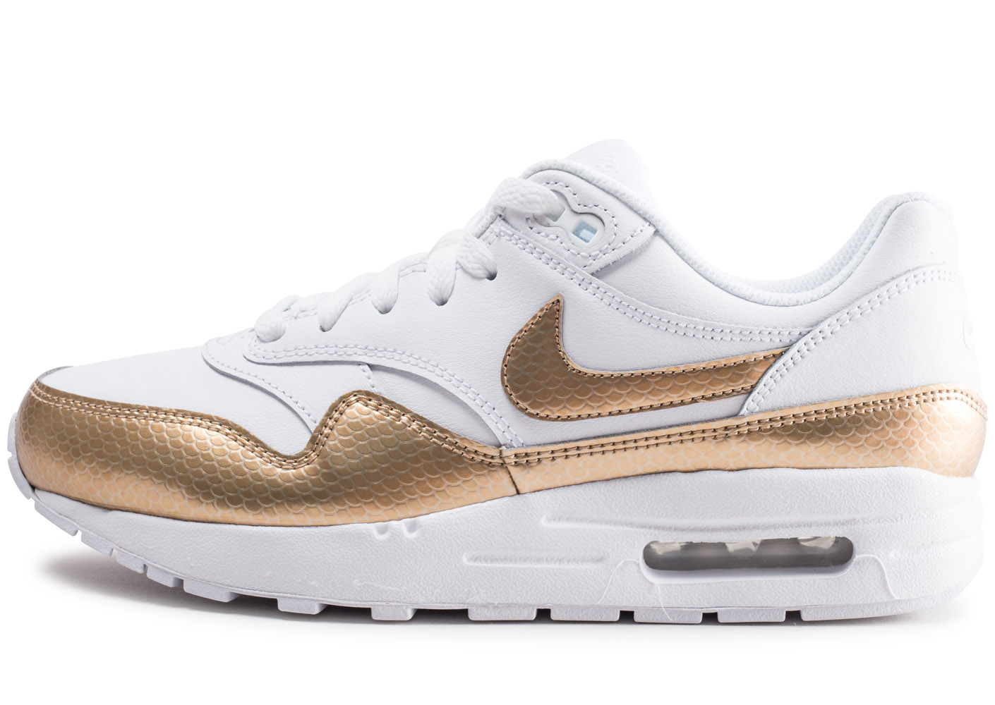 Air Max 1 Ep Blanche Et Or Junior