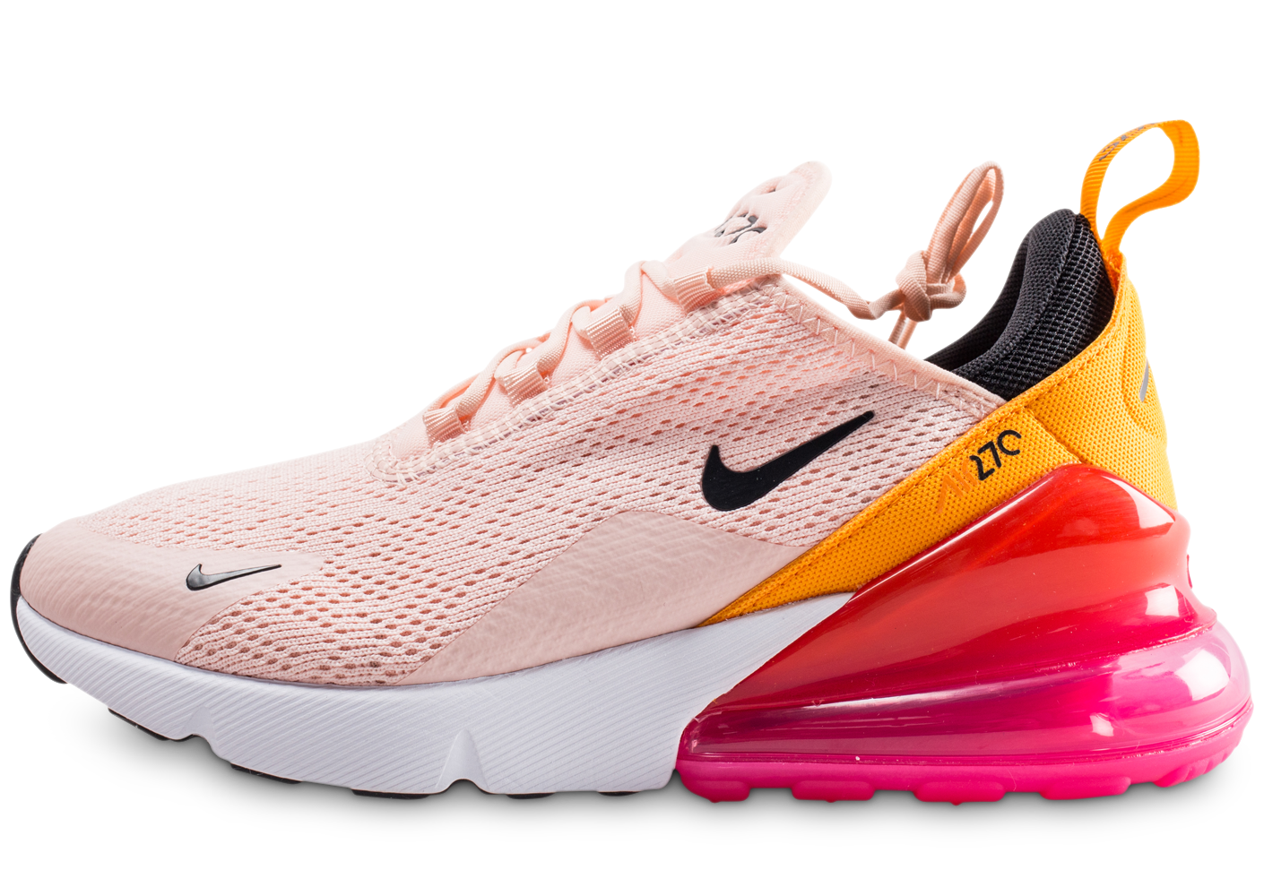 huge selection of 523a8 7d360 Nike air max 270 rose et orange femme.