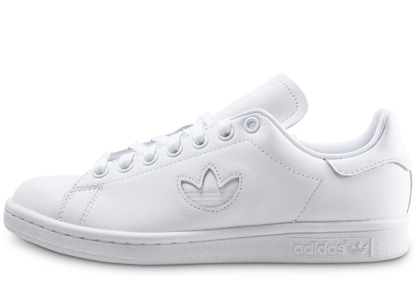 Adidas stan smith trèfle triple blanc femme...