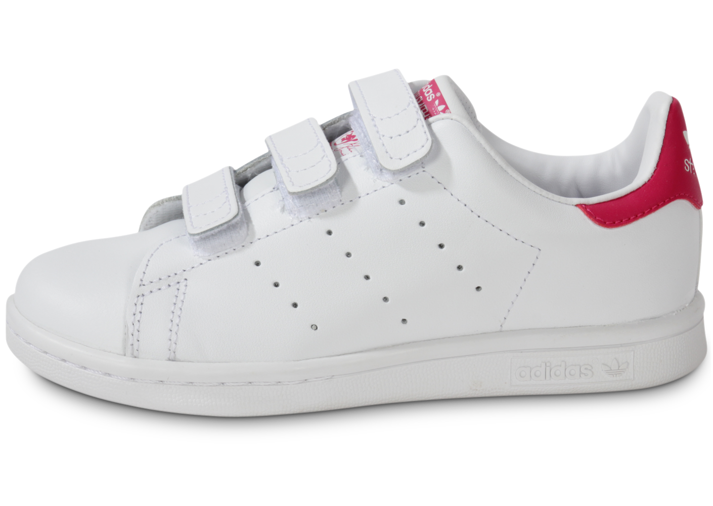 Adidas enfant fille stan smith scratch rose et...