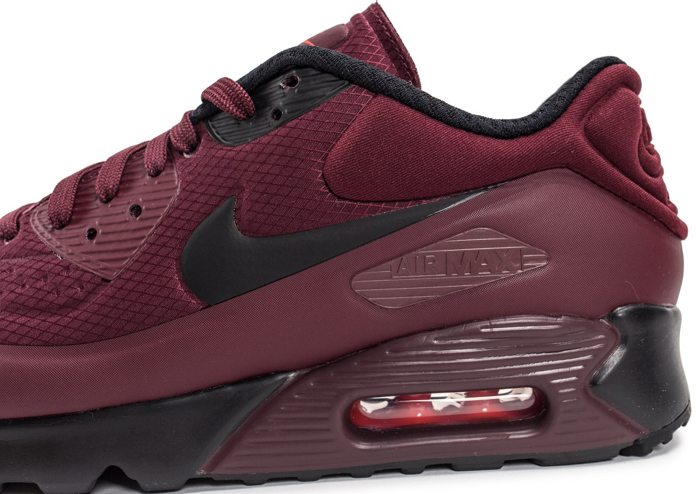 Nike Air Max 90 Ultra SE bordeaux - Chaussures Baskets homme ...