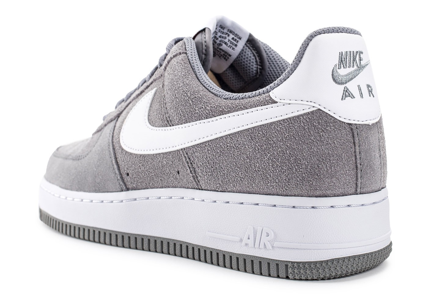 Nike Air Force 1 Suede grise - Chaussures Baskets homme - Chausport