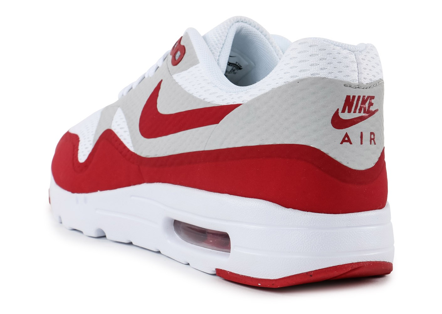 Nike Air Max 1 Ultra Essential blanc rouge - Chaussures Baskets ...