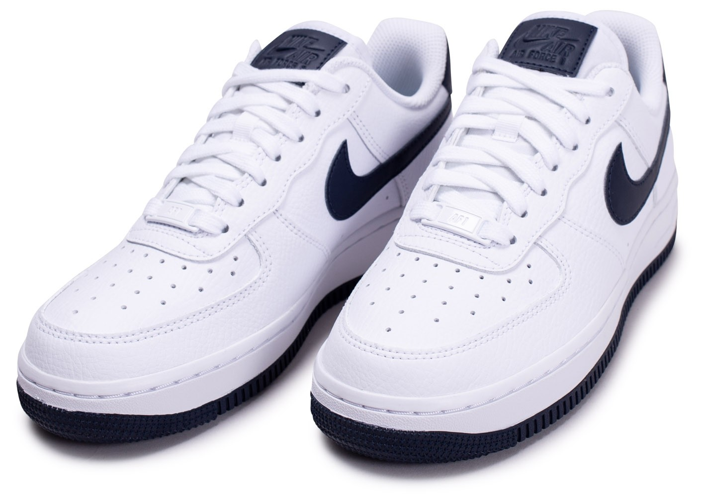 Nike Air Force 1 07 blanche et bleue femme - Chaussures ...