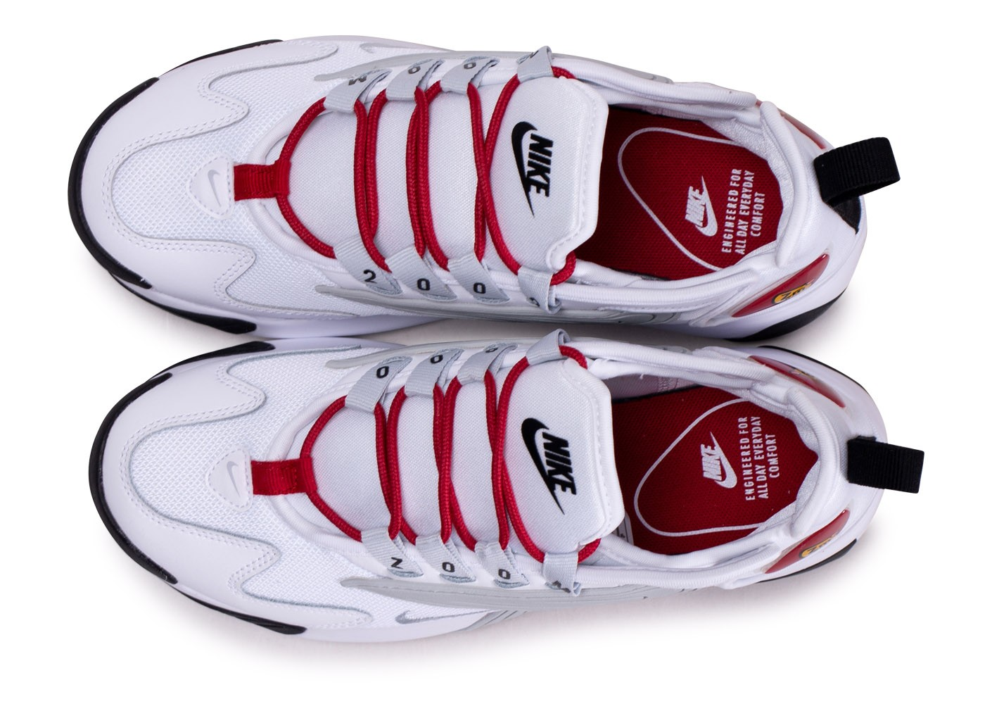 Nike Zoom 2K blanche rouge et grise femme - Chaussures Baskets ...