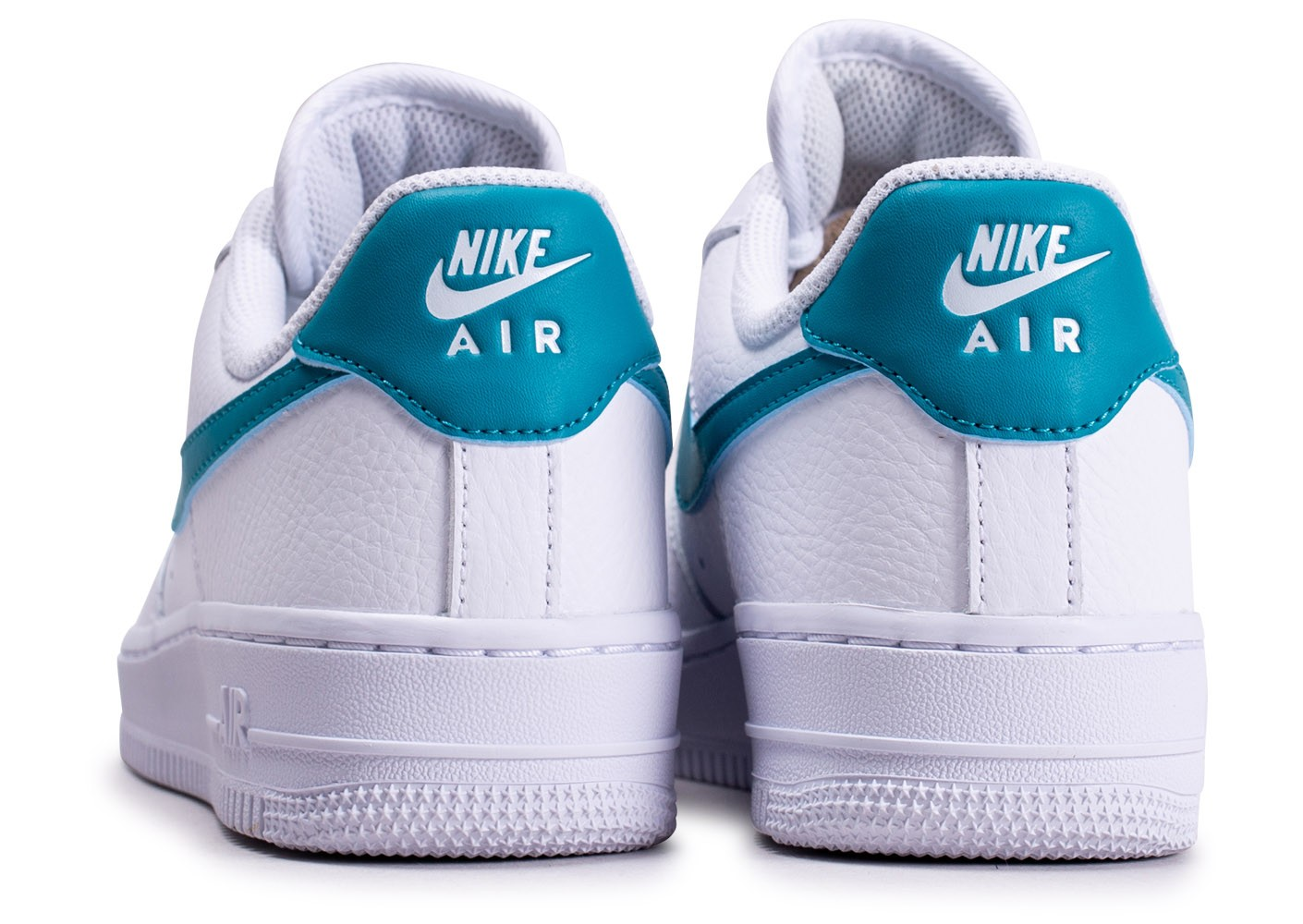 Nike Air Force 1'07 blanche bleue or femme - Chaussures Baskets ...