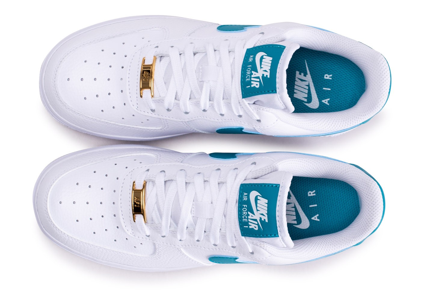 air force 1 femme or et blanche