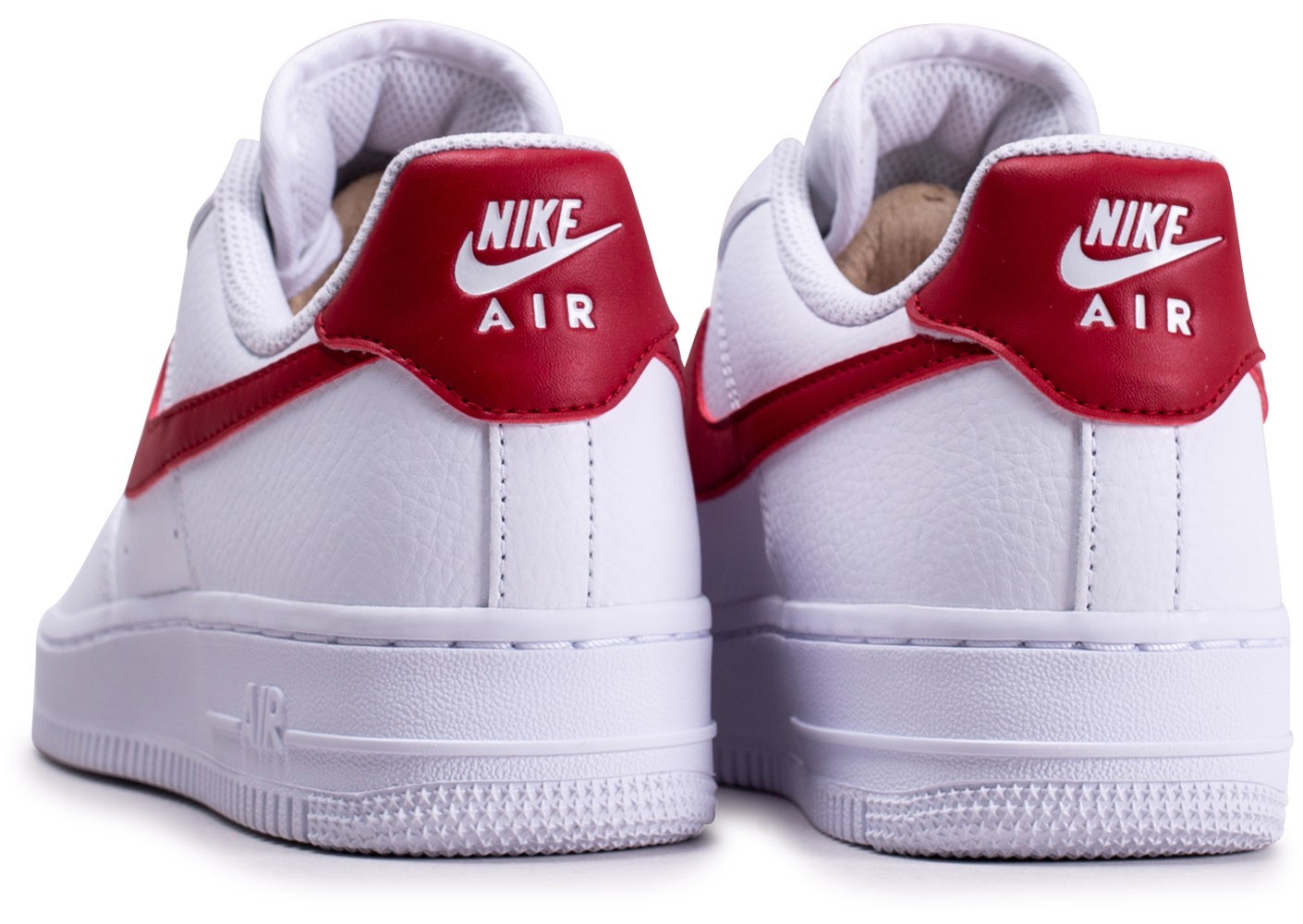 Nike Air Force 1'07 blanche rouge et or femme - Chaussures Baskets ...
