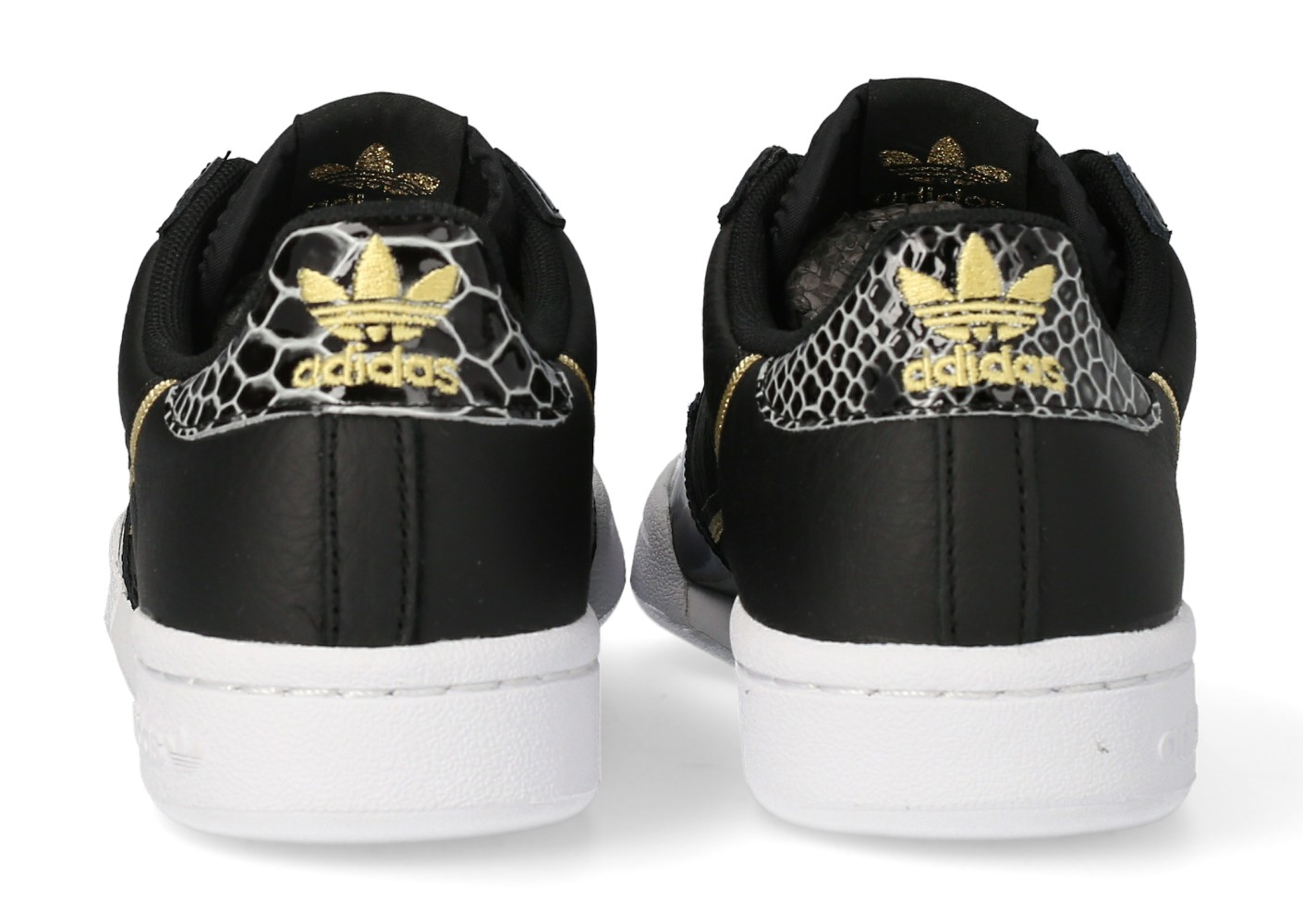 adidas Continental 80 noire et or Femme - Chaussures adidas ...