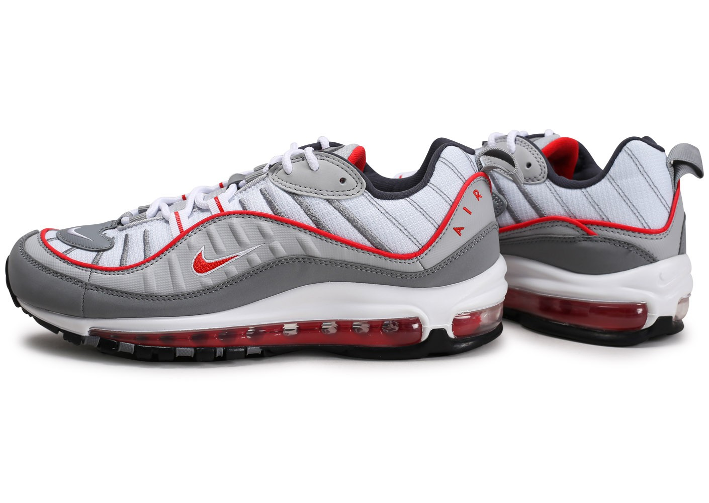 Nike Air Max 98 gris rouge - Chaussures Baskets homme - Chausport