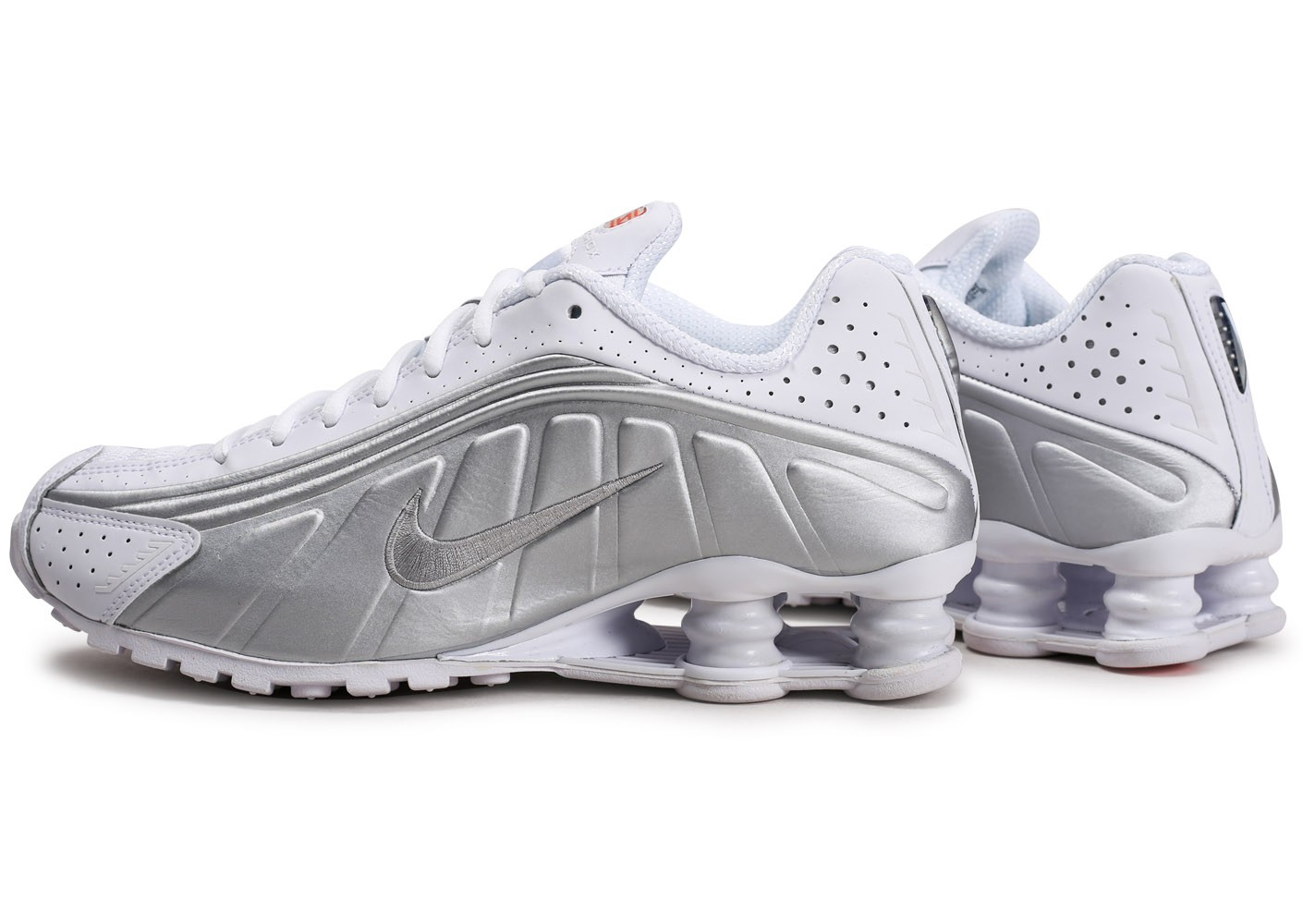 Nike Shox R4 blanc argent - Chaussures Baskets homme - Gov