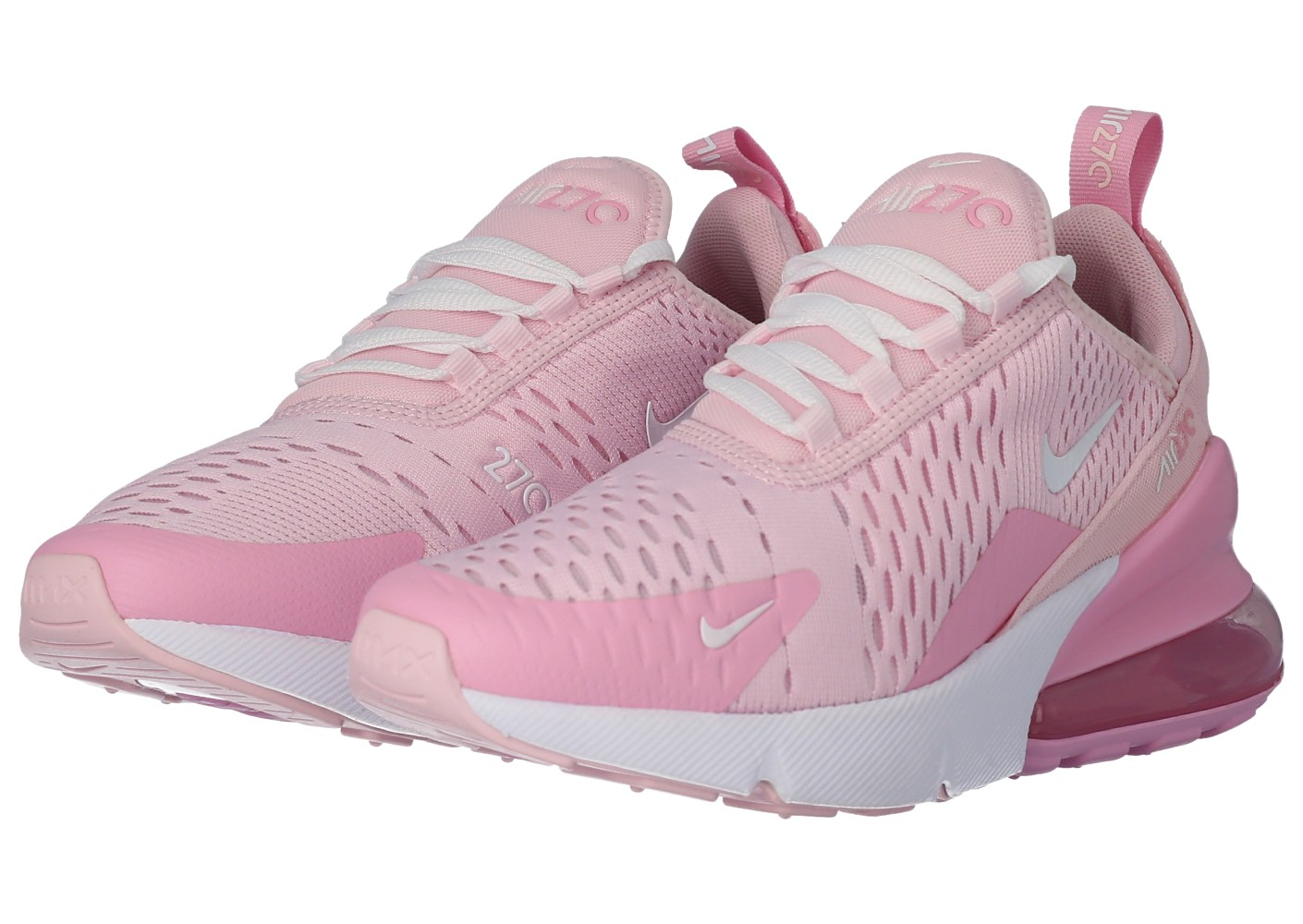 chaussures nike air max grise et rose