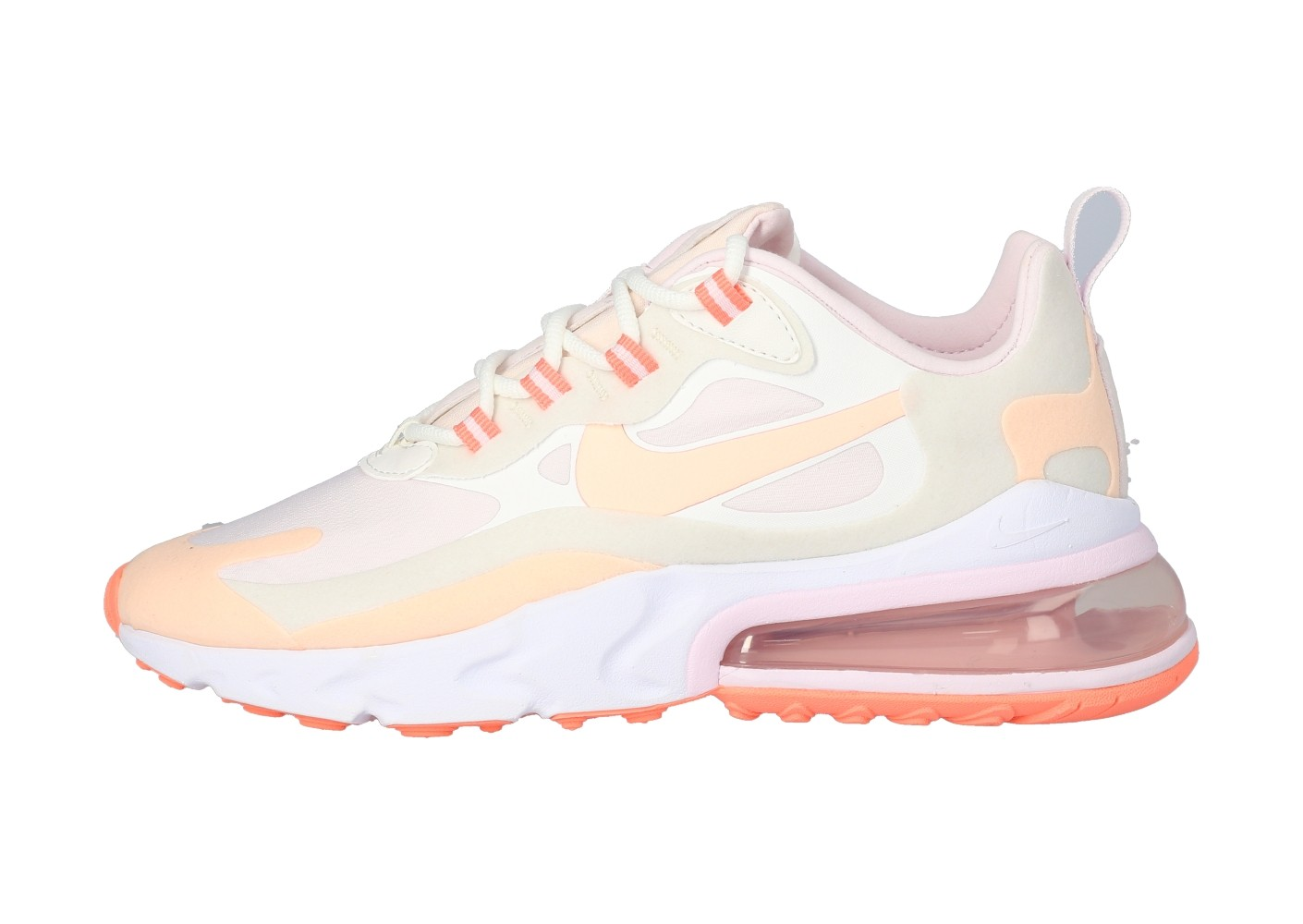 Nike Air Max 270 React grise et rose - Chaussures Baskets ...