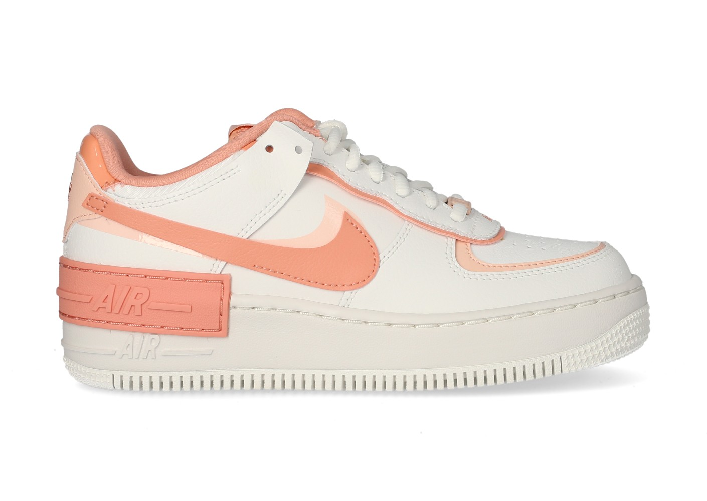 Nike Air Force 1 Shadow blanche et rose Femme - Chaussures Baskets ...