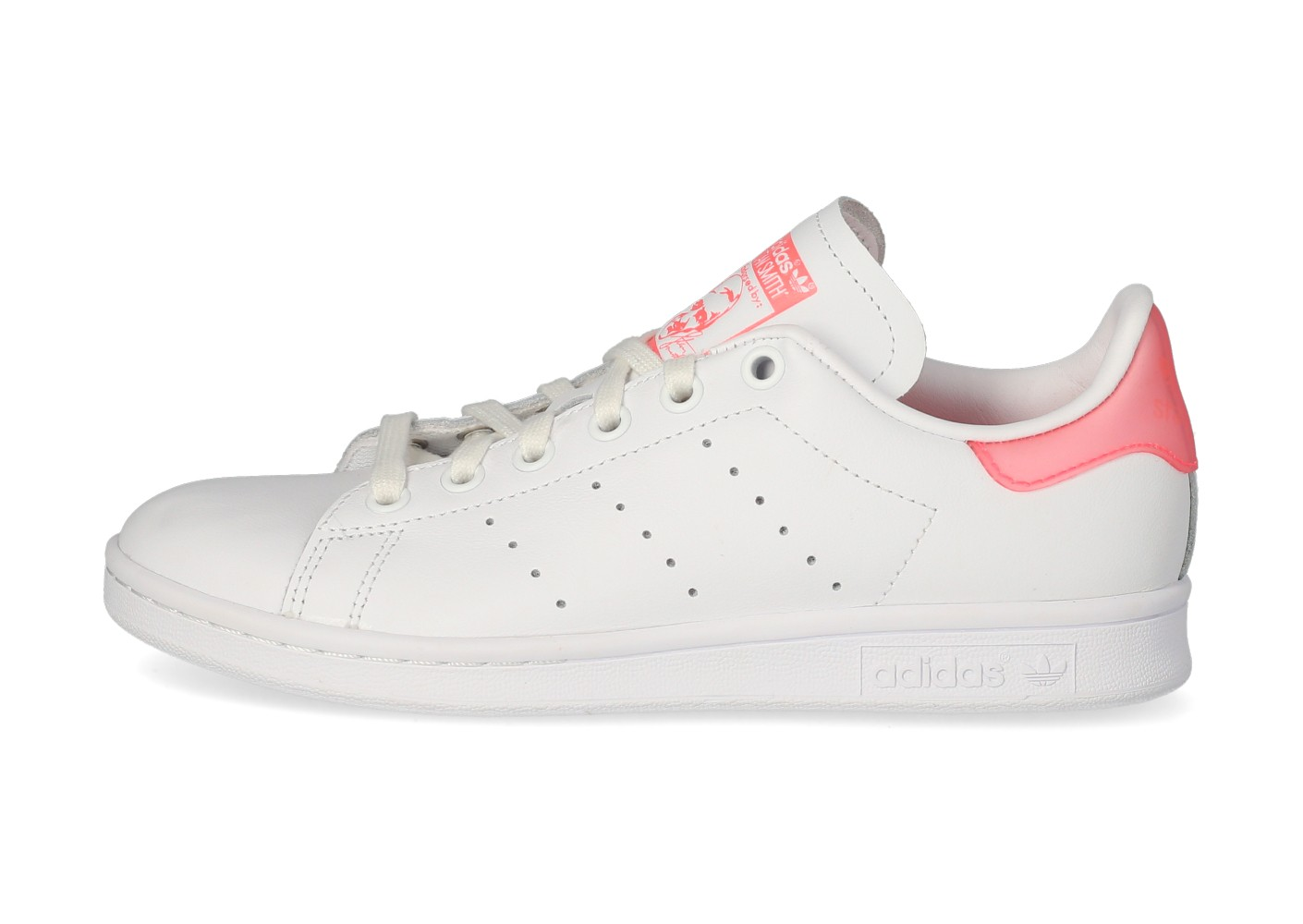 adidas Stan Smith Femme blanche et rose translucide - Chaussures ...