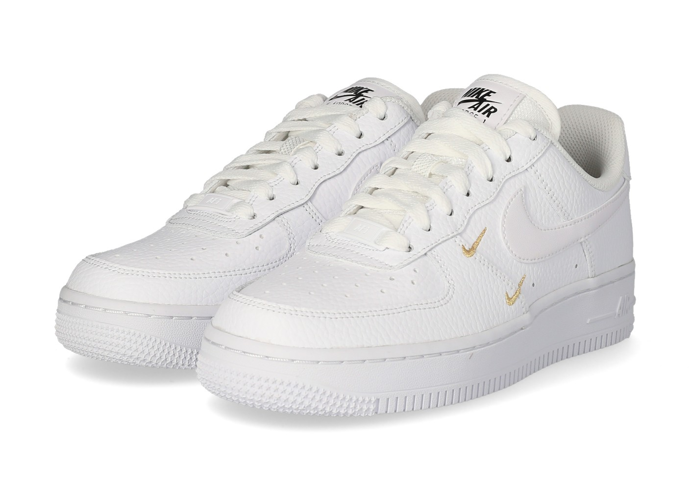 Nike Air Force 1'07 Essential Femme blanche et or - Chaussures ...
