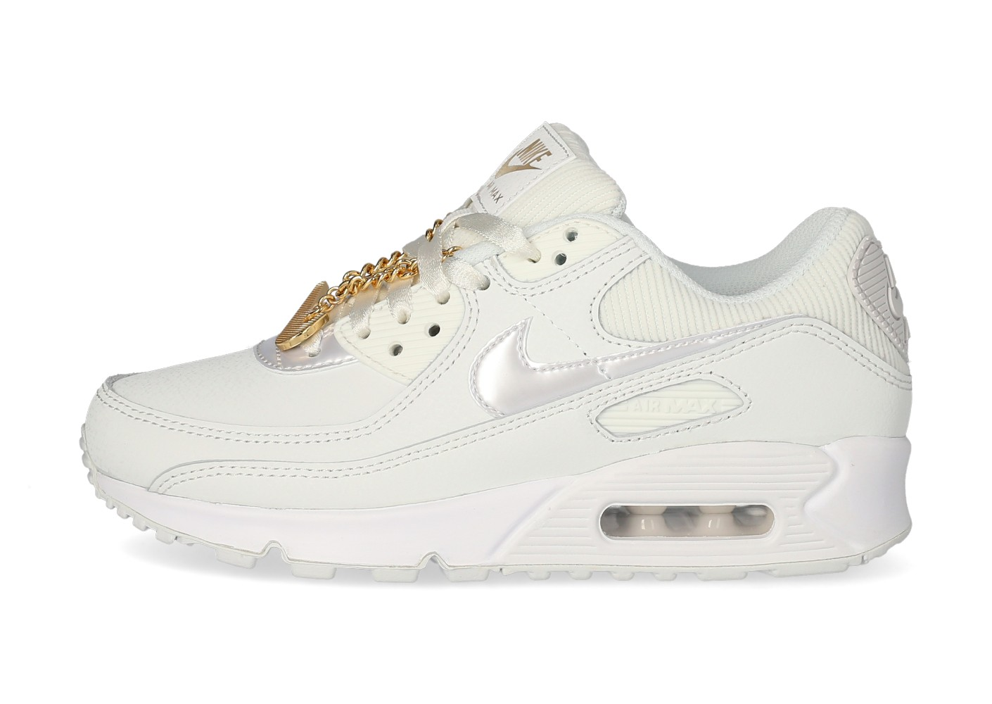 Nike Air Max 90 Femme blanche et or - Chaussures Prix stylés ...