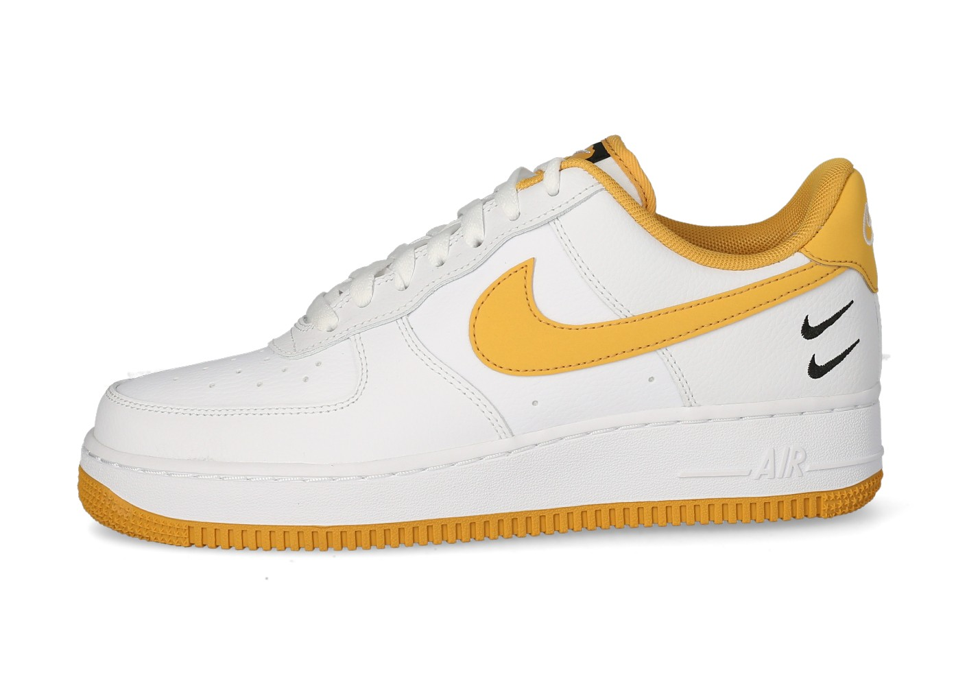 2021 Nike Air Force 1'07 Double Swoosh blanche et jaune ...