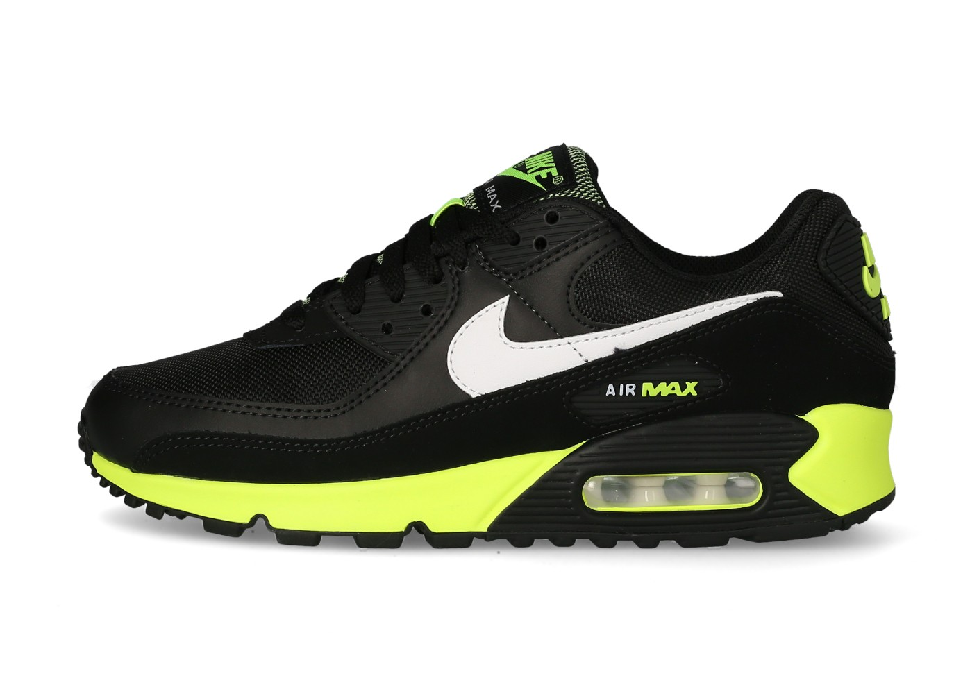 Nike Air Max 90 Homme noire hot lime - Chaussures Baskets homme ...