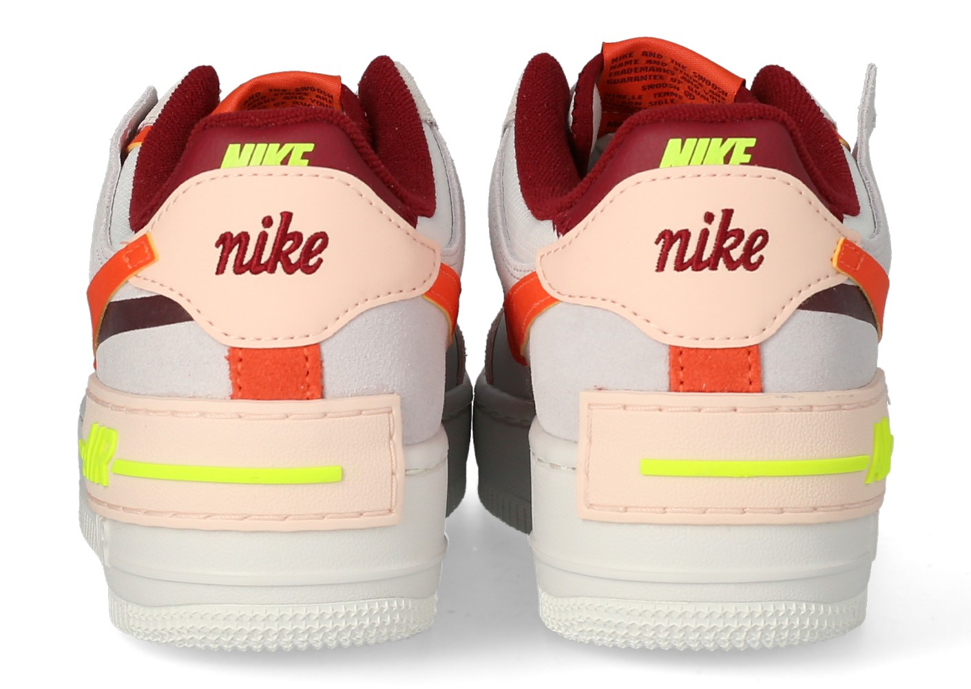 Nike Air Force 1 Shadow Femme Rouge Volt Orange - Chaussures ...