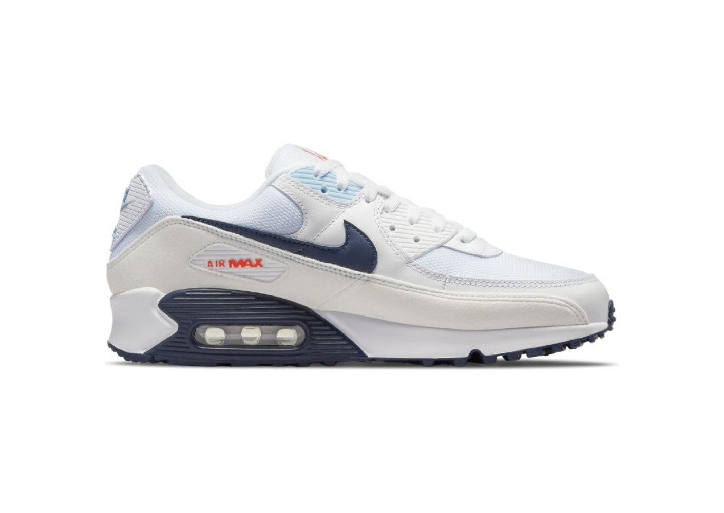 Nike Nike Air Max 90 blanc marine et rouge Homme - Chaussures ...