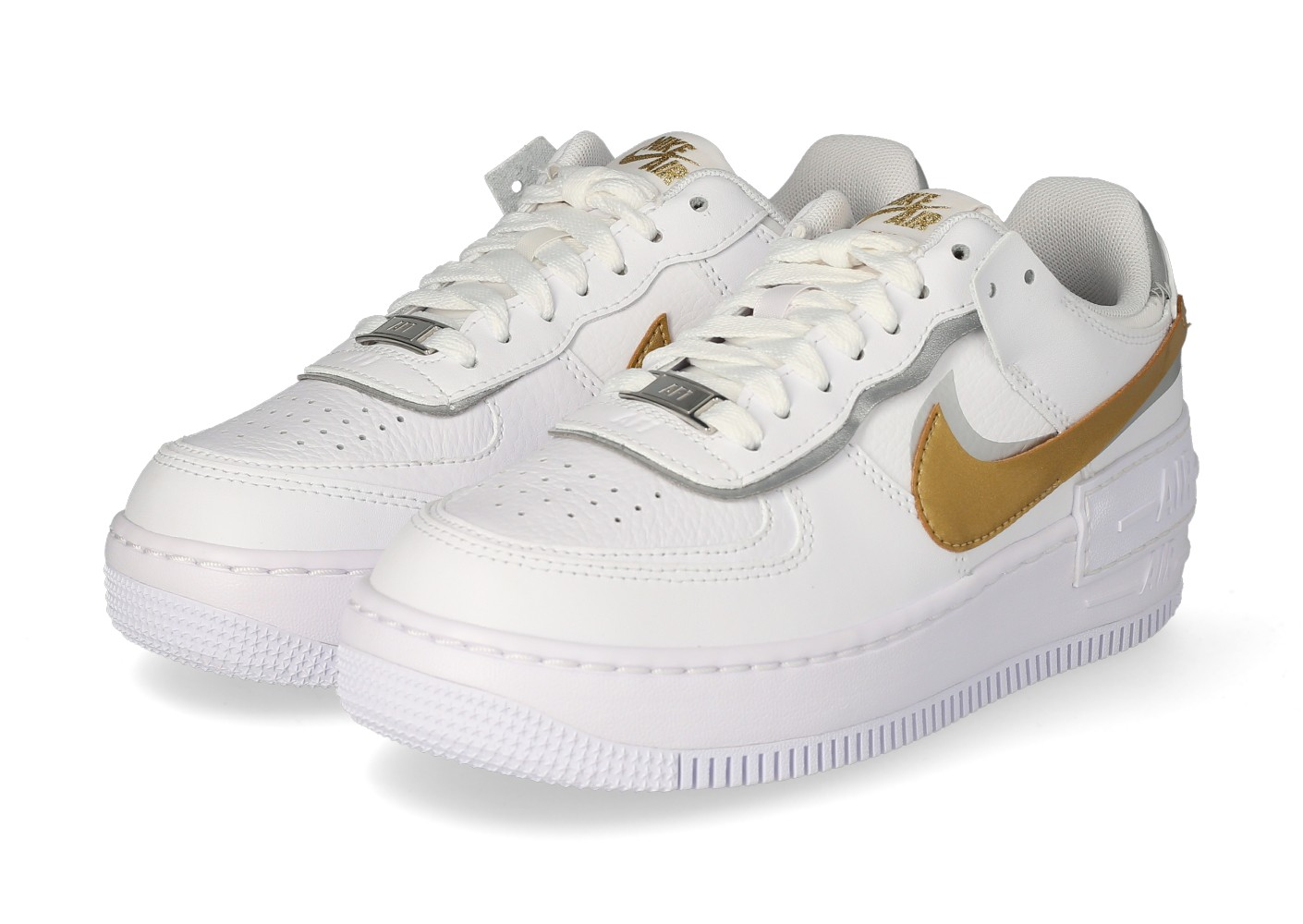 Nike Nike Air Force 1 Shadow Blanc et Or Femme - Chaussures ...