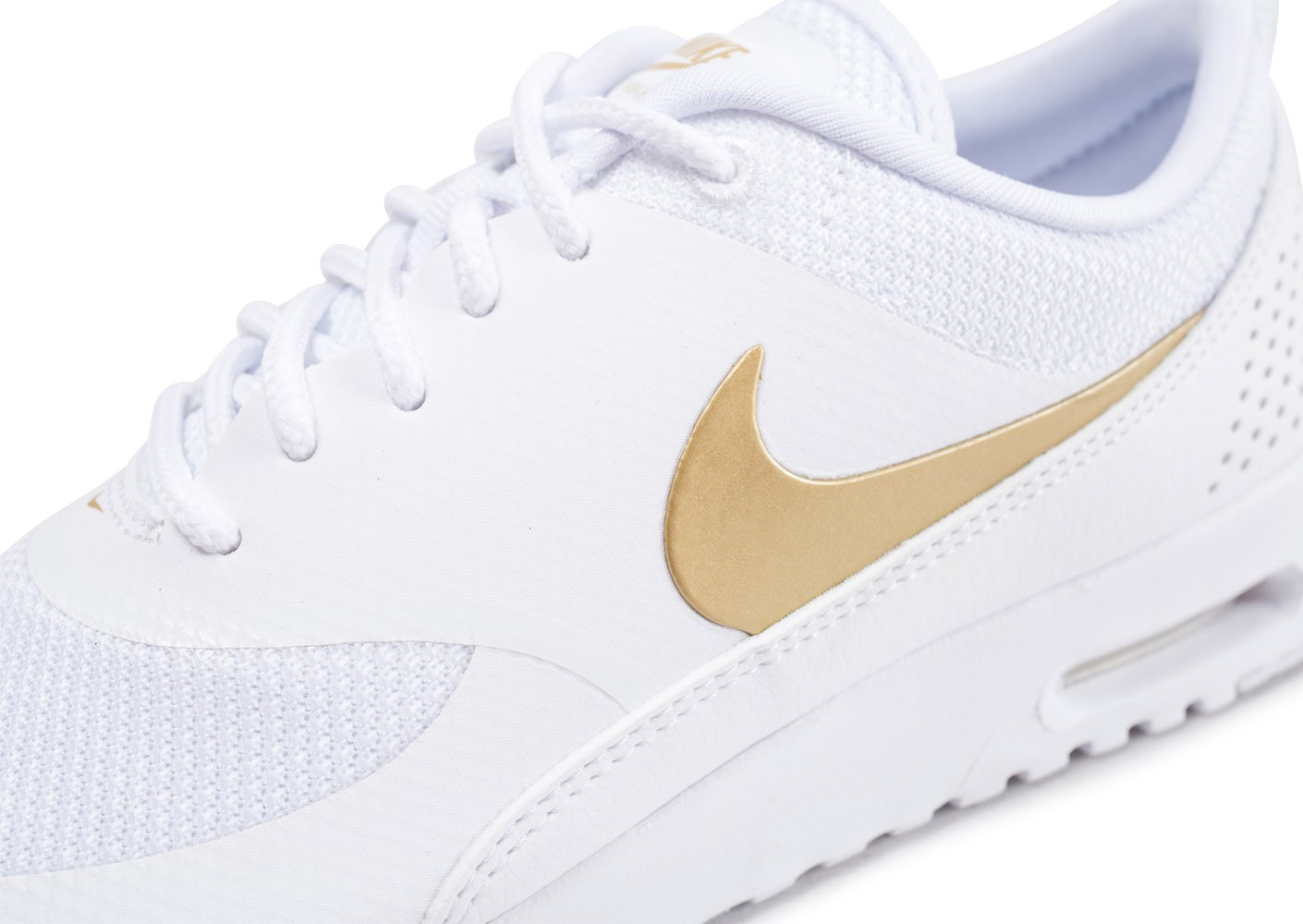 Nike Air Max Thea blanche et or - Chaussures Baskets femme ...
