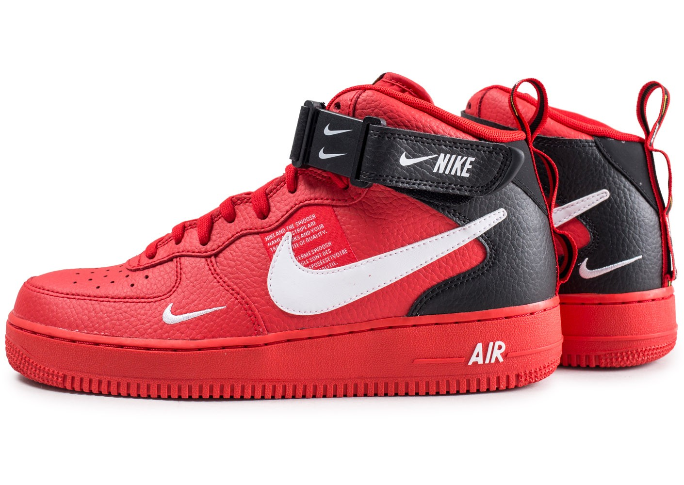 Nike Nike Air Force 1 07 Mid LV8 Utility rouge - Chaussures ...