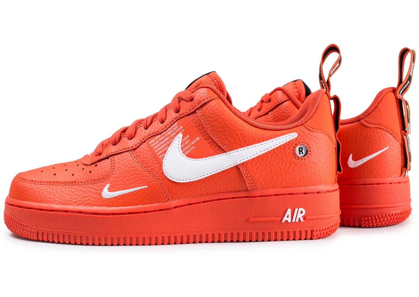 Nike Air Force 1 '07 LV8 Utility orange - Chaussures Baskets ...