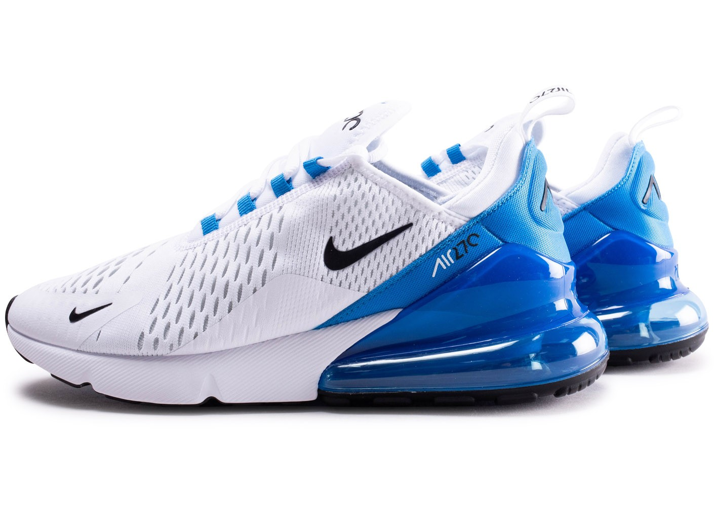 Nike Air Max 270 blanche et bleue - Chaussures Baskets homme ...