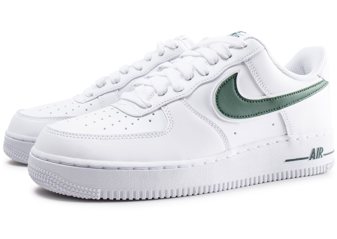 Nike Air Force 1 '07 blanche et verte - Chaussures Baskets homme ...