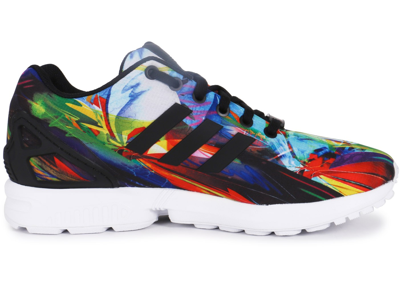 adidas Zx Flux Print Multicolore - Chaussures Baskets homme ...