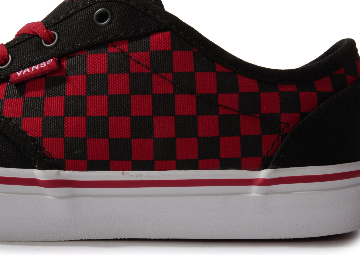 Vans Atwood Junior Damier Rouge - Chaussures Chaussures - Chausport