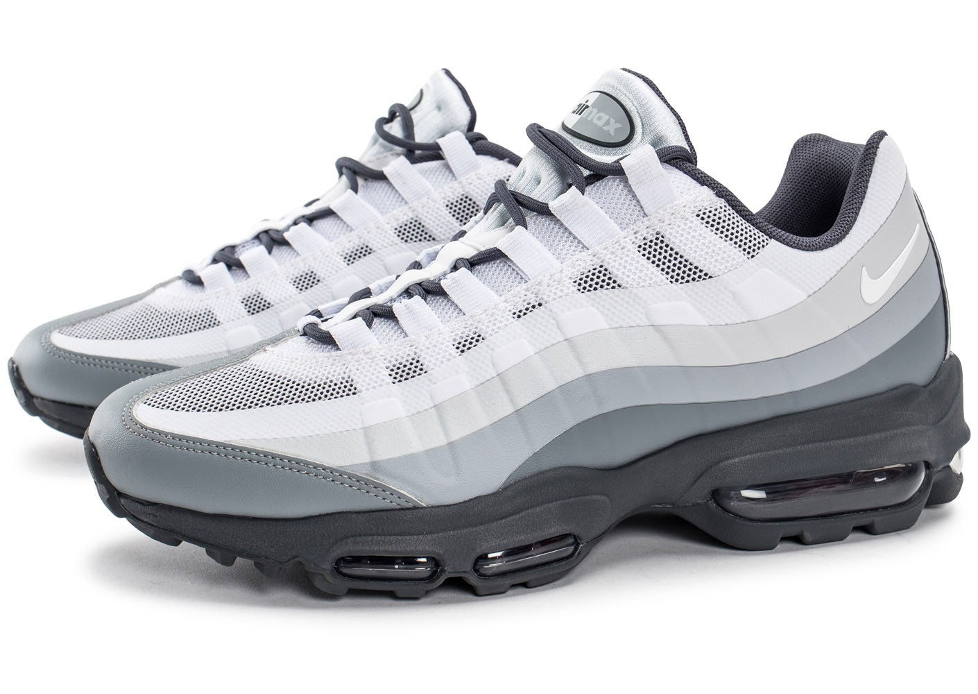 Nike Air Max 95 Ultra Essential blanche et grise - Chaussures ...