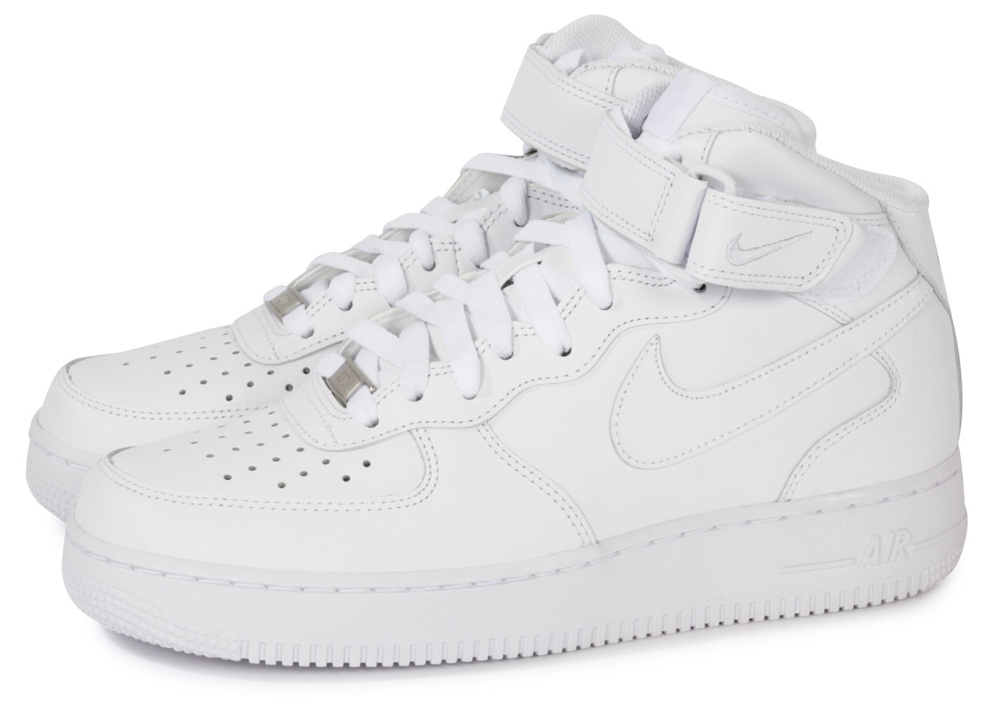 Nike Air Force 1 Mid 07 Blanche - Chaussures Baskets homme ...