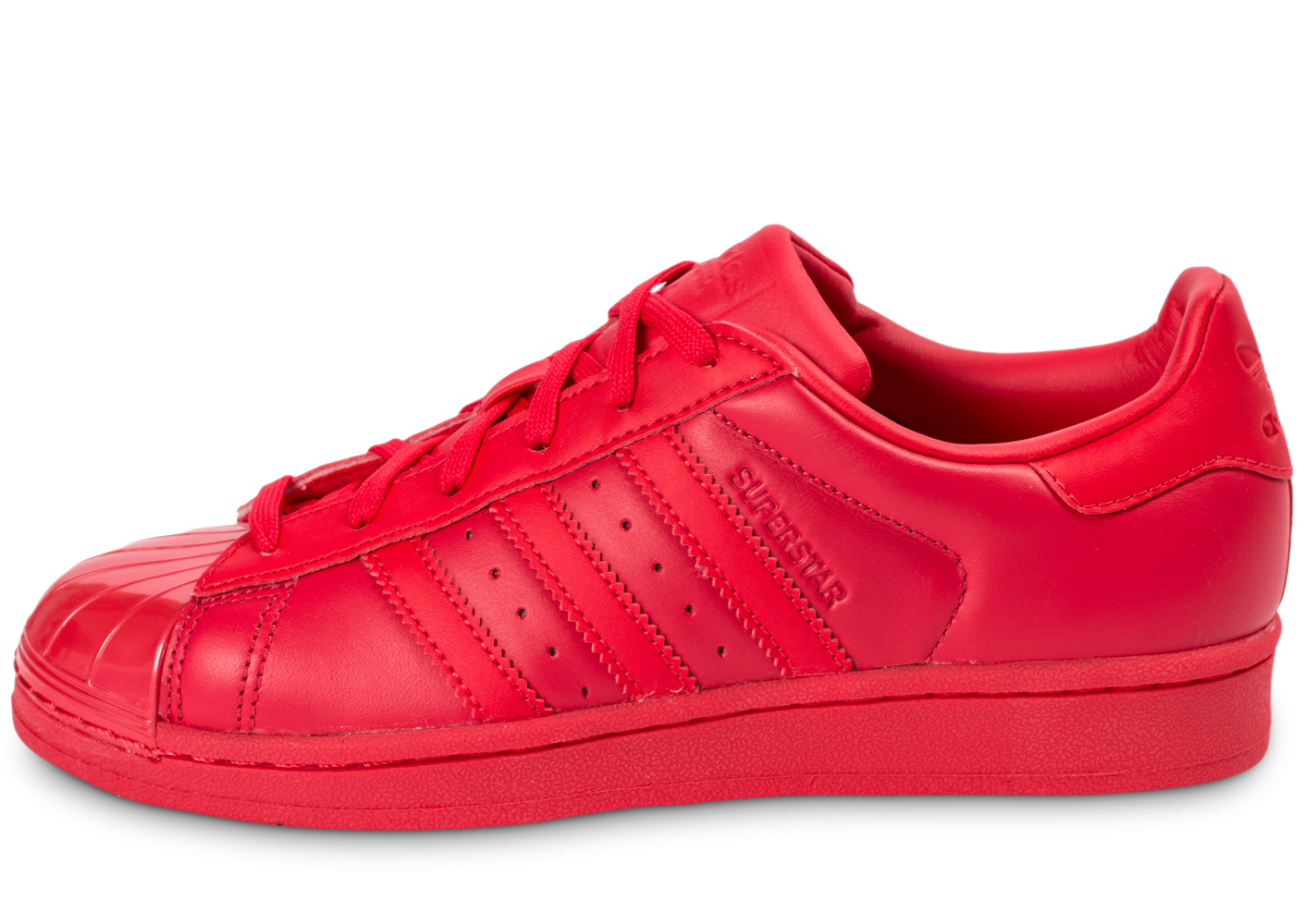 adidas Superstar Glossy Toe rouge - Chaussures adidas - Chausport