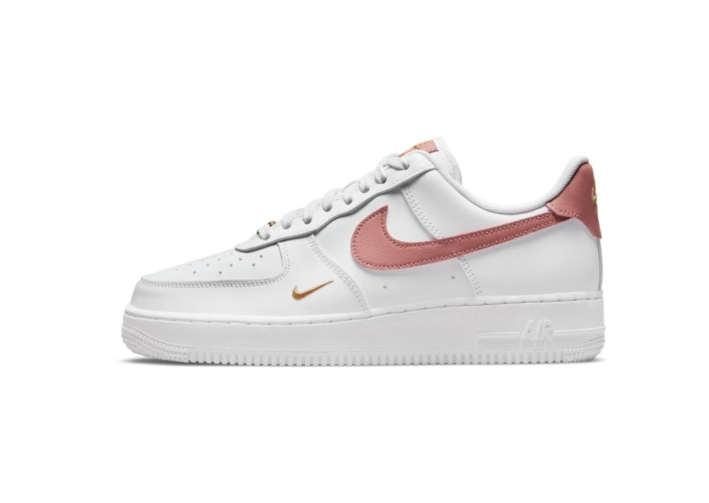 Nike Nike Air Force 1 07 ESS Blanc et Rose Femme - Chaussures ...