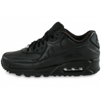 Nike Air Max 90 Leather noire - Chaussures Baskets homme - Chausport