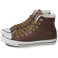 9c2d1669943ae Converse Chuck Taylor All-star Cuir Chocolat - Chaussures Baskets ...