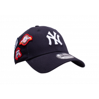 Casquette NY Cooperstown Patched 9Forty bleue marine